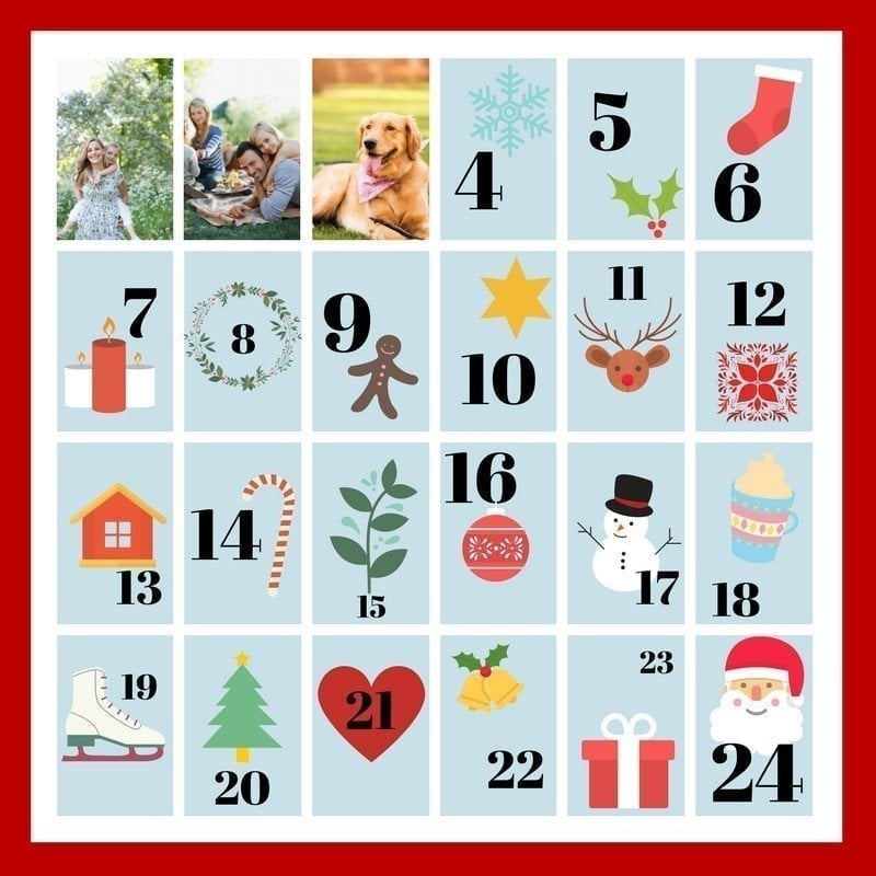 Adventskalender mit Fotos